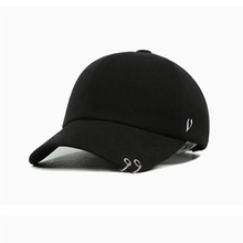 2016 Gd unisex solid Ring Safety Pin curved hats baseball cap men women snapback caps sport casquette gorras - MUMU store
