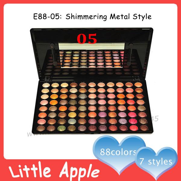 Professional Coastal Scents Eyeshadow Palette 88 Red Metallic Eyeshadow Makeup Kit Eye Shadow Make Up Maquiagem Set(China (Mainland))