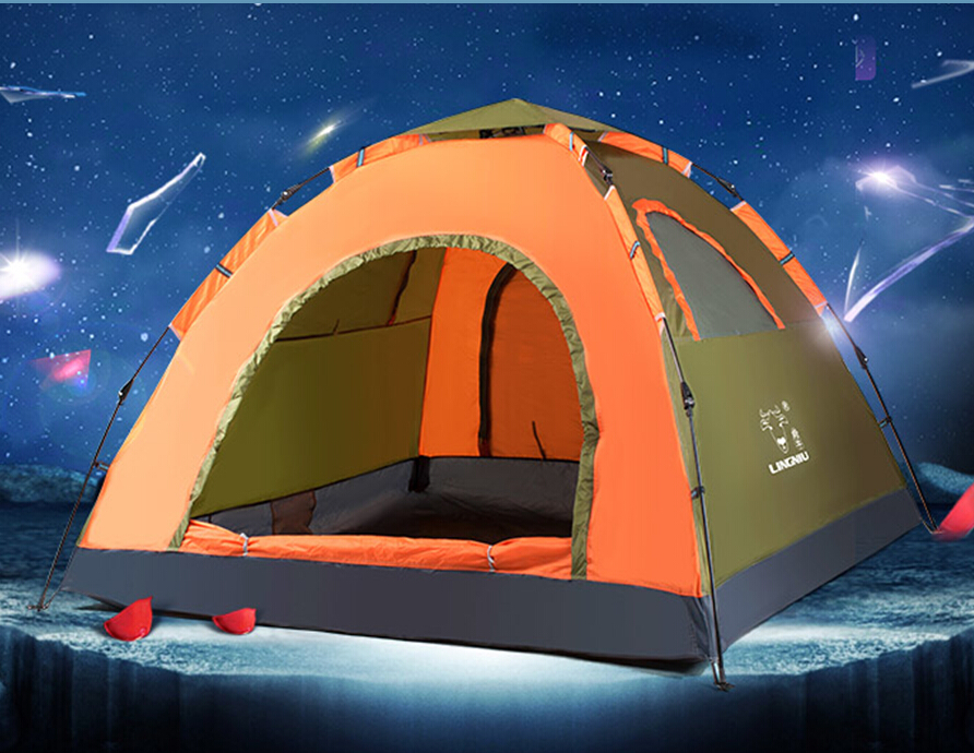Automatic tent outdoor 3 - 4 persons water-resistant sun-shading camping hiking tents
