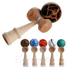 Nuovo di alta qualità di sicurezza giocattolo di bambù kendama migliori giocattoli di legno giocattolo per bambini(China (Mainland))