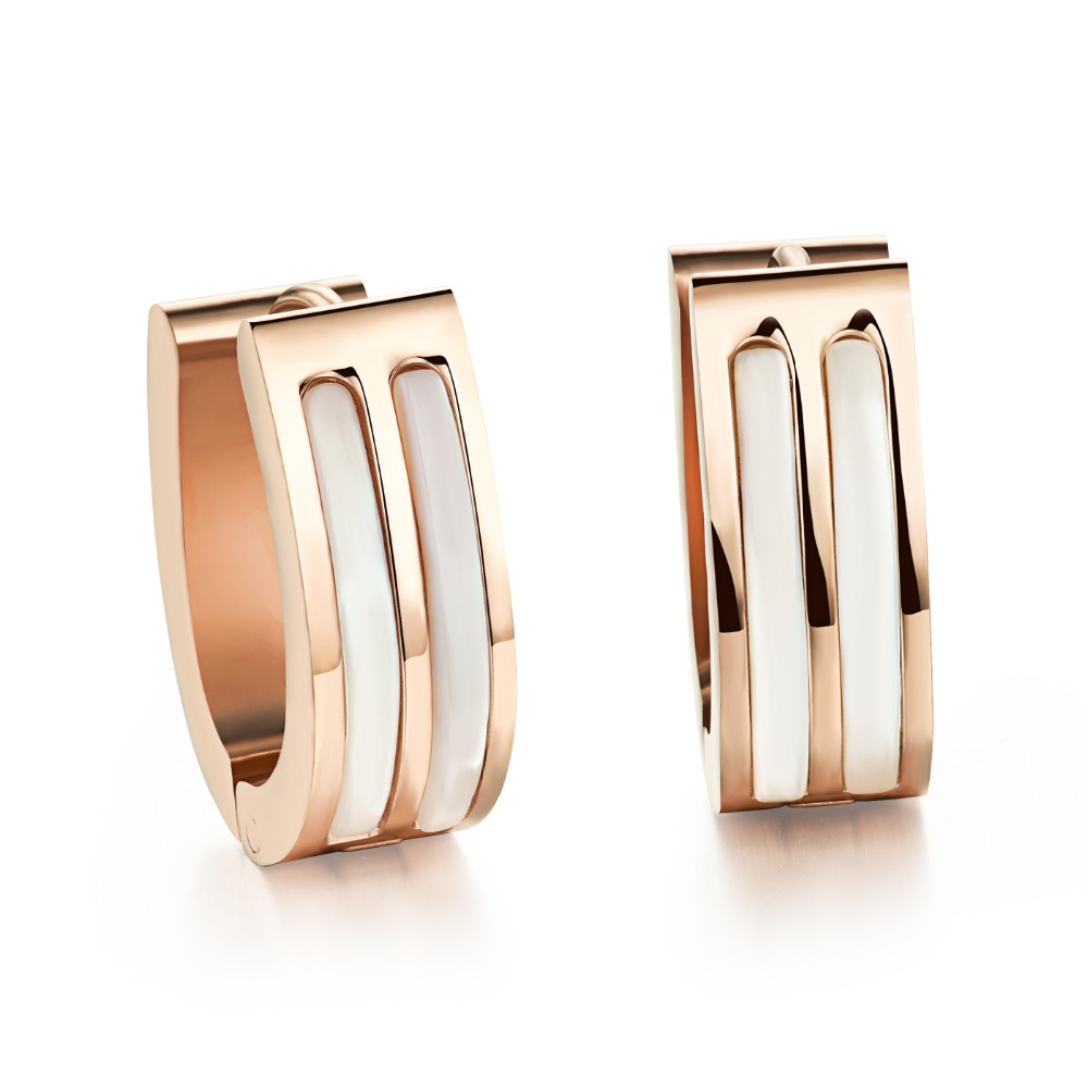 New Hot wholesale exquisite rose gold earrings female earrings 292(China (Mainland))