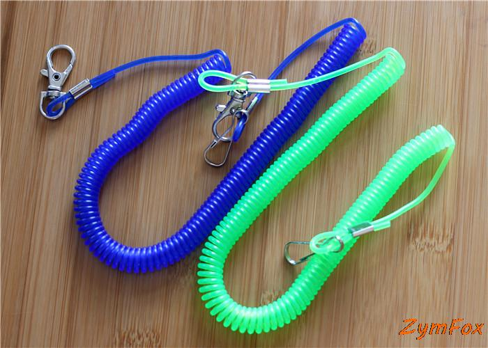 Retractable Rope,Stretchy Coiled Fishing Lanyard, String,Safety Line for Fishing, Color Landom(China (Mainland))