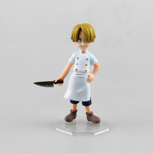 Anime One Piece Cute Diable Jambe Sanji Childhood 12 CM MH POP MILD PVC Action Figure Toy Collection Model Gift