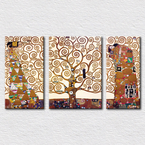 World famous painting tree of life by Gustav Klimt pictures for modern living room wall decoration canvas painting(China (Mainland))