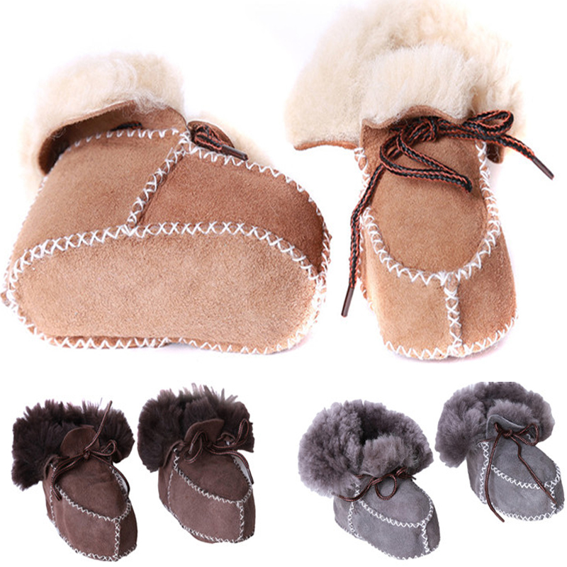 2016 Winter Suede leather baby boy snow boots for girl Newborn warm shoes infant toddler soft sole First Walkers Booties brand(China (Mainland))