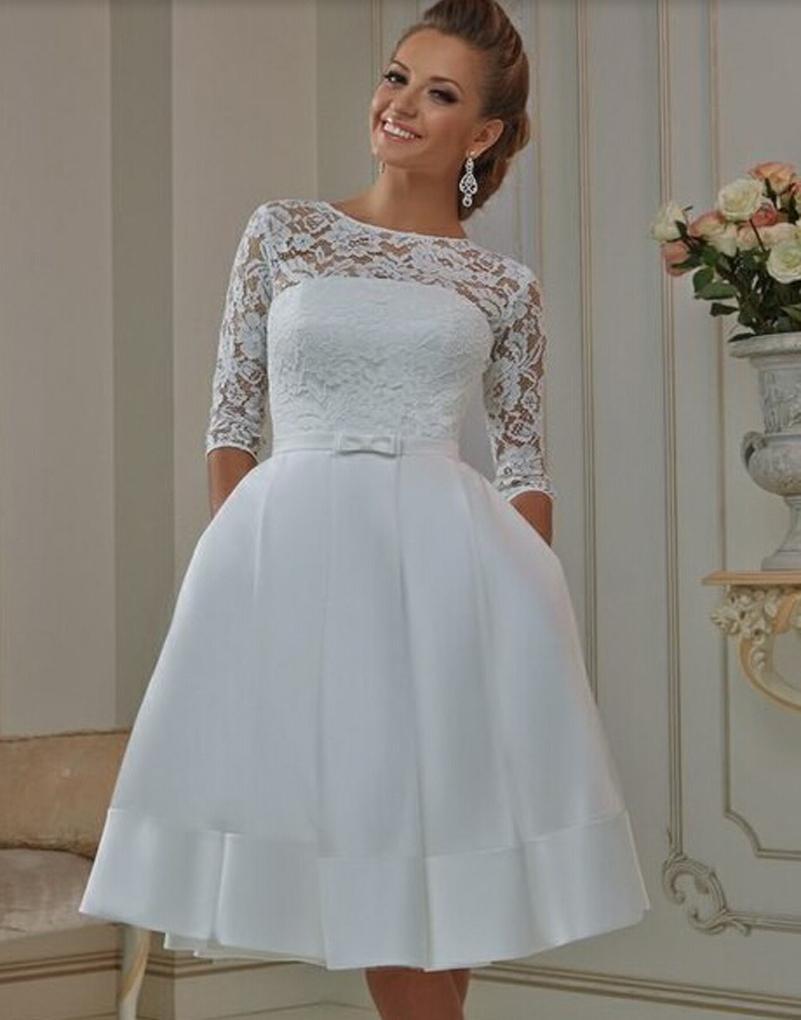Turmec » half sleeve plus size wedding dresses