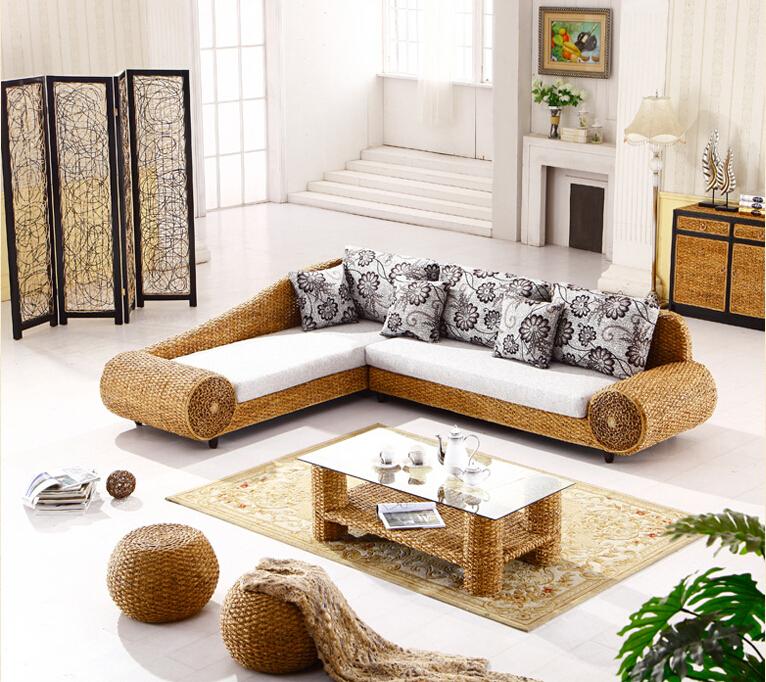 Rattan Sofa Wohnzimmer Zuhause Image Idee