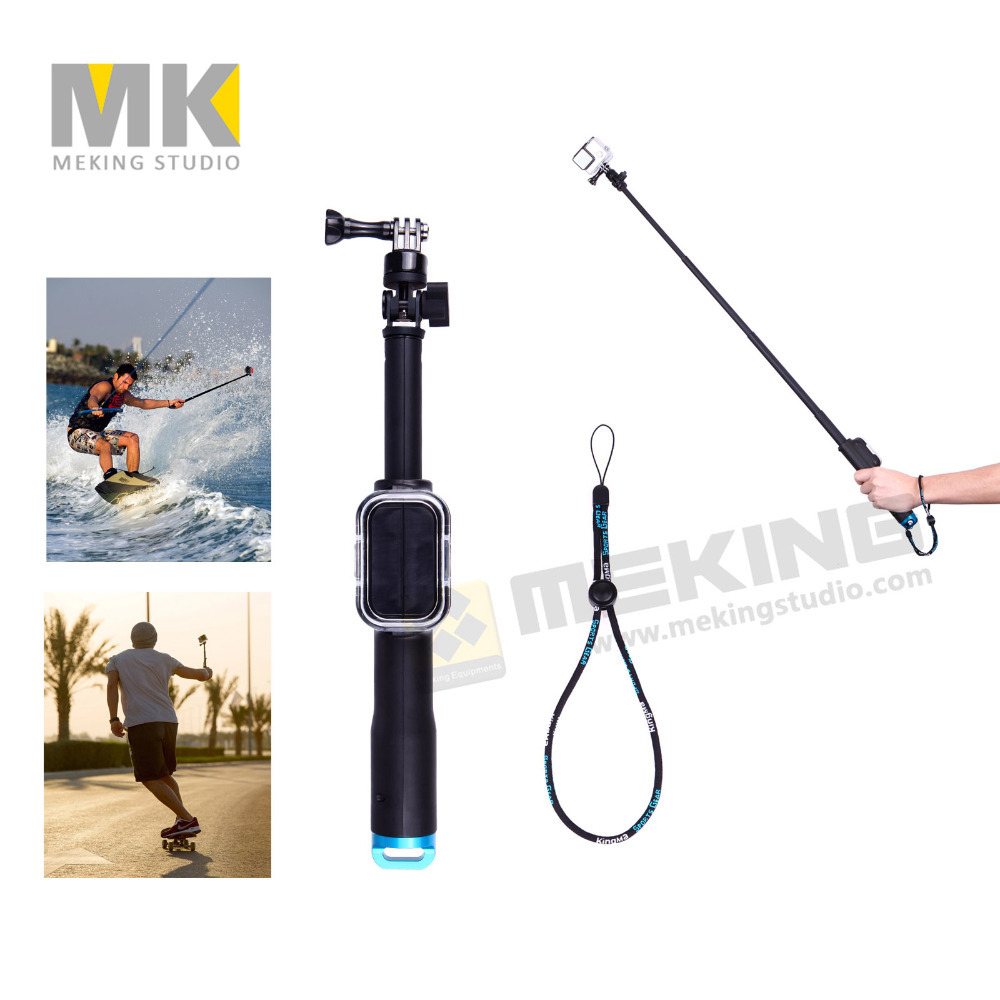98cm GoPro Selfie Stick Remote Pole Handheld Monopod Tripod with Wifi Remote Housing Case Sports Action Camera Surfing Holiday<br><br>Aliexpress
