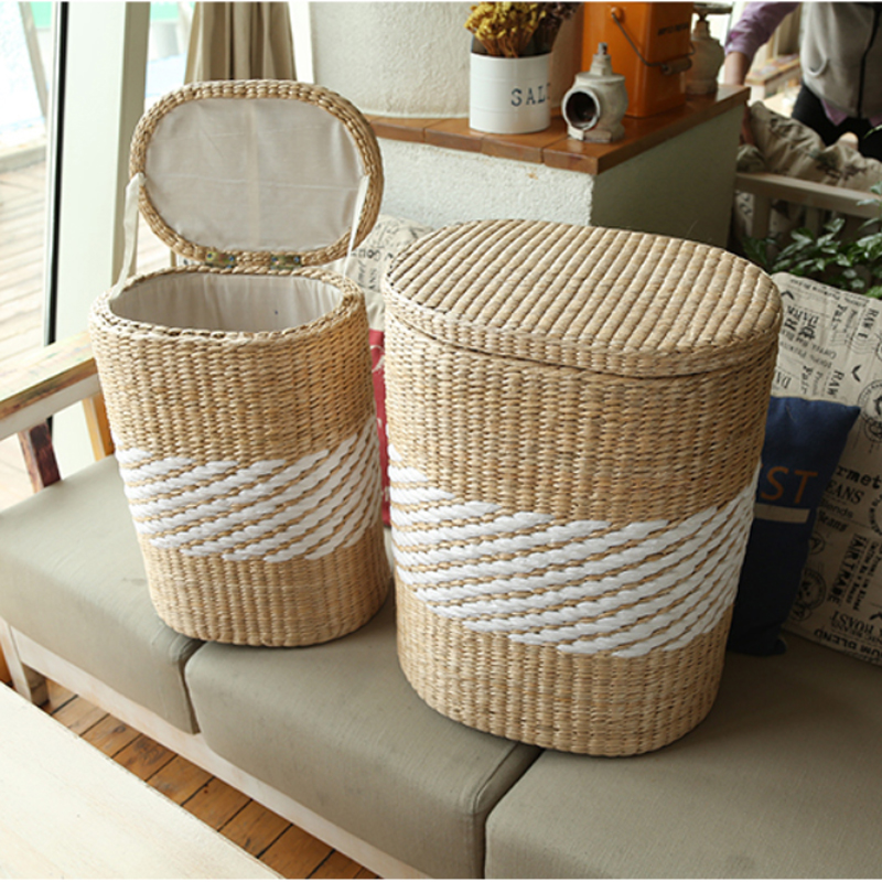 Popular large wicker baskets with lids buy cheap large wicker baskets with lids lots from china - Rattan laundry basket with lid ...