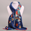 Women New Arrival Fashion 100 100 Big Size Square Silk Scarves Brand Style Flower Girl Wraps