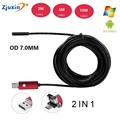 2 in 1 OTG Phone Android USB Endoscope Inspection 7 0mm Camera 6 LED HD IP67