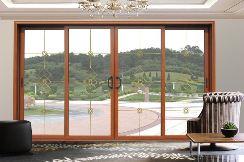 Aluminium aluminum double glazing patio exterior glass for Double glazed patio doors sale
