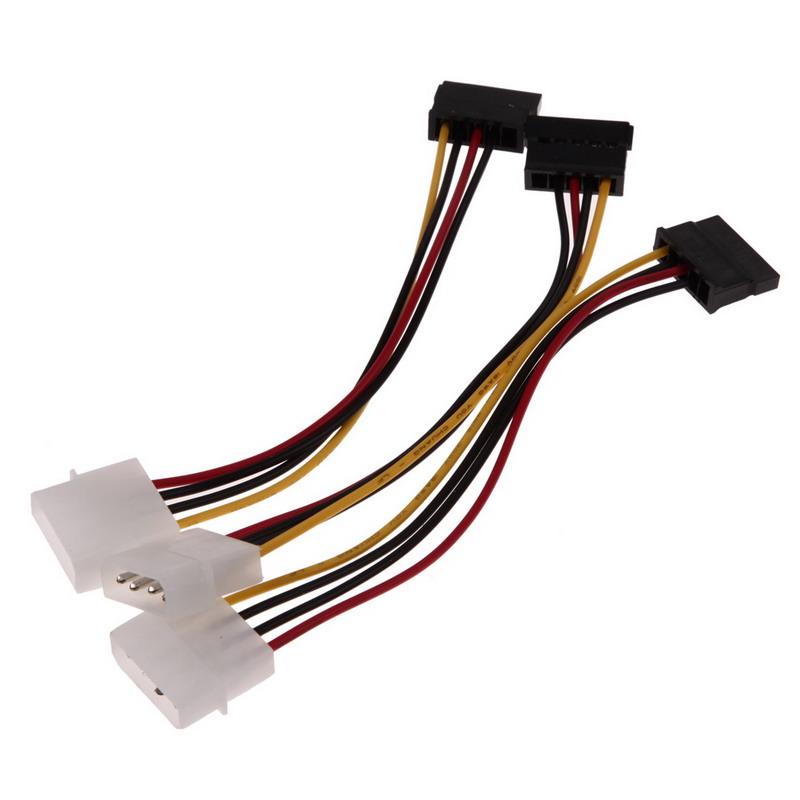 NI5L 3pcs IDE to Serial ATA SATA Hard Drive Power Adapter Cable IDE to SATA Power Cable Extenders(China (Mainland))