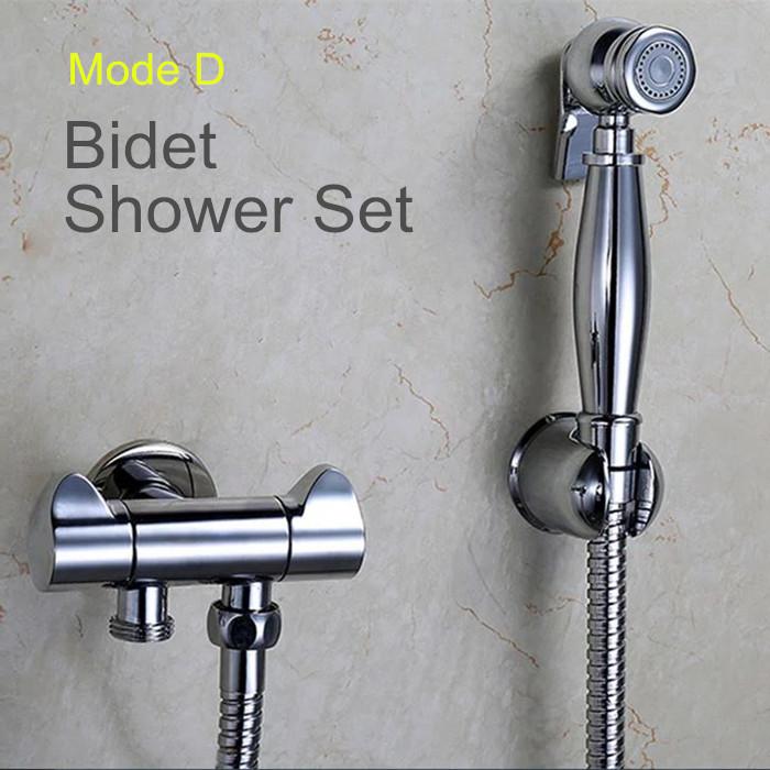 Brass Hand held Bidet Shower set Toilet Jet Cleaner Portable Bidet High Pressure Shower Spray(China (Mainland))