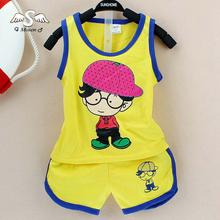 2016 Newborn Baby Clothing Sets Boy/girl Cotton Vest + Shorts 2pcs Kids Clothes Sets Cartoon Suit Summ