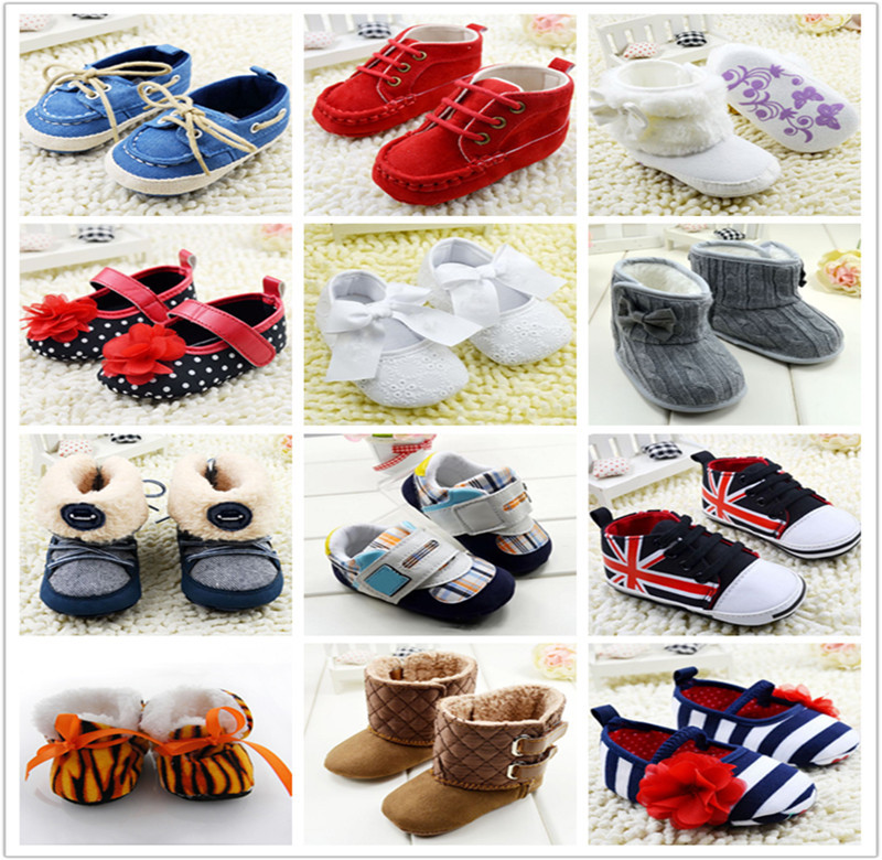 Baby Girls Boy Shoes Soft Sole Hot Sale Kids Toddler Infant Boots Prewalker First Walkers 29 Colors(China (Mainland))