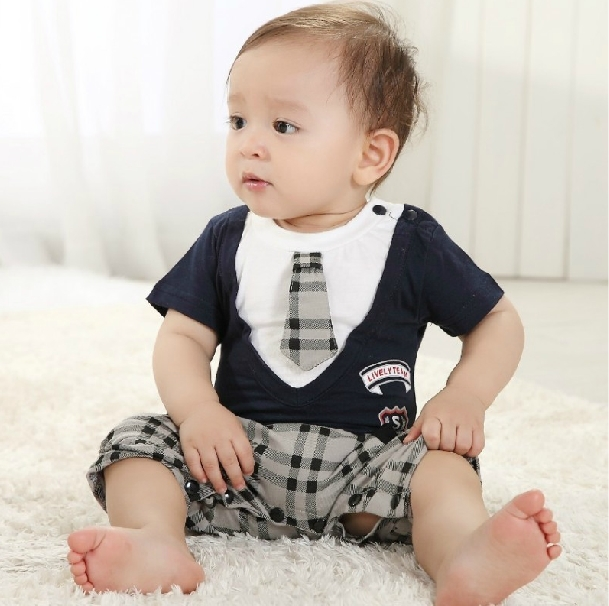 Designer Boys Infant Clothing Baby Boys Romper Gentleman