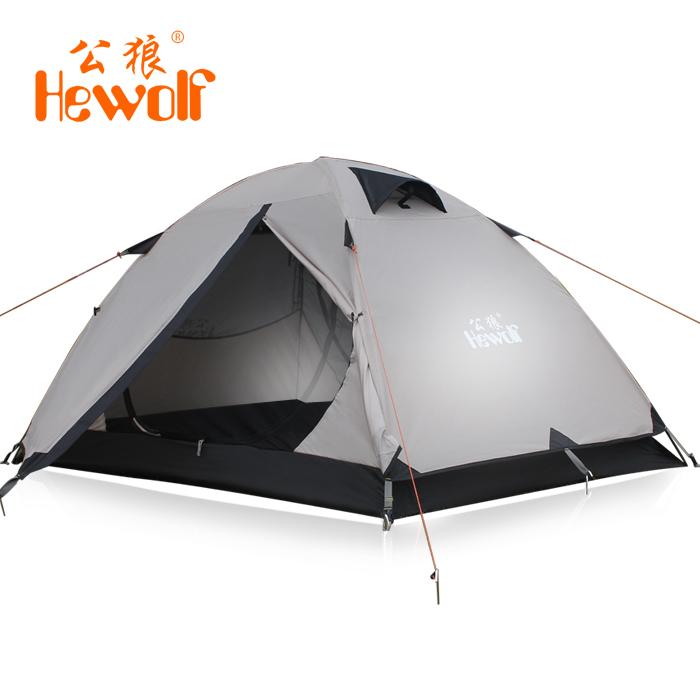 2013 Hewolf Outdoor Camping Tents Double Layer Aluminum Tent Outdoor Tent Water-resistant 1572 200X140X110CM