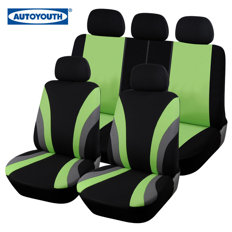 AUTOYOUTH Fashion Green Car Seat Cover Universal Fit 95% above Vehicles Seat Covers Car Seat Protector 3 Color Car Styling(China (Mainland))