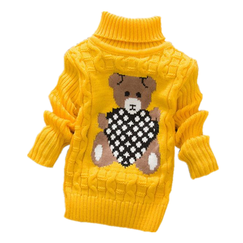 Big Size 2T-8T pullover winter autumn infant baby sweater boy girl child knitted sweater turtleneck sweater children outerwear(China (Mainland))