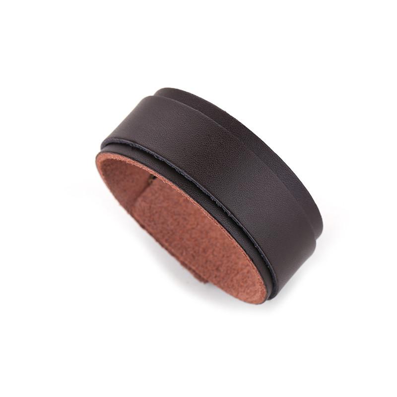 Fashion Simple Black Color Double Wide Leather Bracelet For Man Women Cuff Punk Bracelets & Bangles Charm Jewelry Wholesale(China (Mainland))