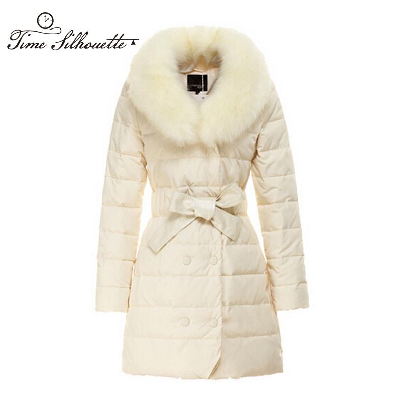 New 2016 winter women thicken down coat warm long fur coat slim down cotton padded women parka coat women down jacket W658(China (Mainland))