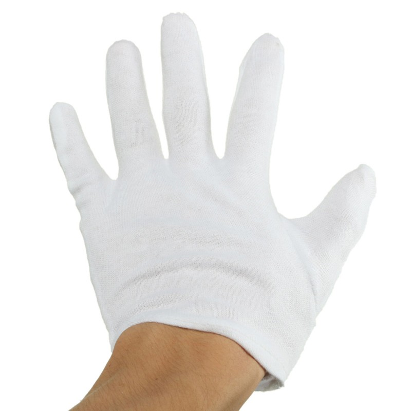 100% Cotton White Gloves Health Music Canvas Beauty Working Labor Liner Hand Safely Security Protector(China (Mainland))