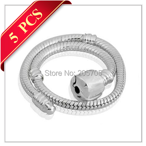 SLY(5PCS) One Year Brightness Crown O 925 Sterling Plated Copper Alloy European Snake Bracelets Base Chains Fit Charms Beads(China (Mainland))