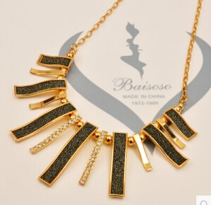 4 Colors 2014 New Korean Fashion Necklace Geometry Matte Texture Stickers Necklace Female Clavicle Free Shipping XY-N7(China (Mainland))