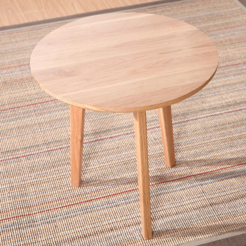 Japanese Style Coffee Table Small Round White Oak Wood Minimalist Ikea In Nail Tables From