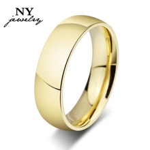 Classic 18K gold ring shining wedding ring for men and woemen wedding jewelry