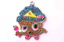 New arrive 50*42mm 10pcs/lot AAA Quality Alloy shopkins Rhinestone Pendants for kid's Necklace Jewelry(China (Mainland))