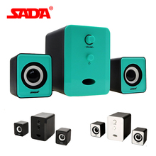 SADA D-201 Compact and Dignified shape Portable Multimedia Laptop Computer Speaker Support AUX Input by USB(China (Mainland))