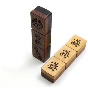 Wood Mahjong USB Stick Flash Pen Drive 8GB Custom Logo Memoria USB Key Flash Pendrive 8GB Gift USB Flash Drive 8GB Free Shipping(China (Mainland))