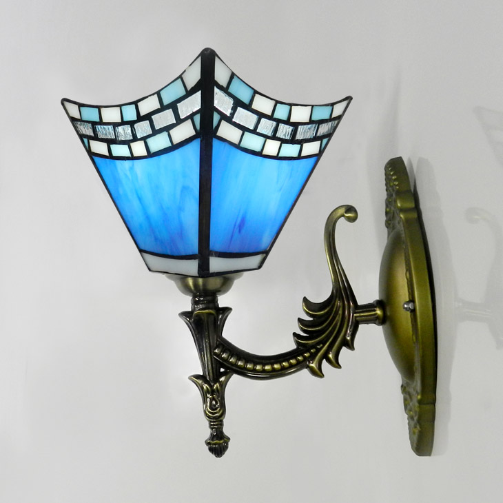 Wall lamp modern brief cubicity ofhead stair light glass iron balconies wall mounted lamp