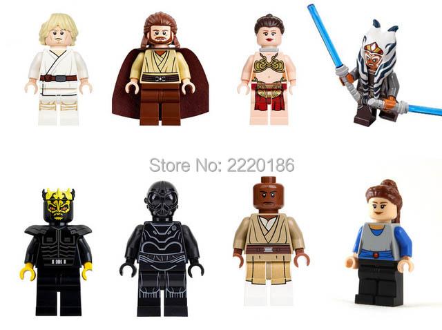 10 set Super Heroes Star Wars Mini block Mace Windu Padme Naberrie Death Star Robot Qui-Gon Jinn Luke Skywalker Kids Toys PG8028(China (Mainland))