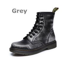 Dongnanfeng Nữ Nữ Nữ Người Phụ Nữ Mắt Cá Chân Giày Boots Mùa Đông Xuân Bò Màu Vàng Bò Buộc Dây Giày Punk Plus Lông Thú ấm Giày Đi Equestr Botas Mujer Plus Kích Thước 43 44 YDL-666(China)