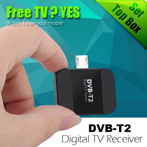Новый DVB-T2 USB HD цифровой тв usb-тв-тюнер цифровой DVB-T2 DVB-T спутниковый ресивер TV Stick для Android телефон / Pad