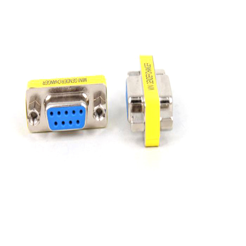 1pcs Newest DB9 serial port adapter connector conversion head VGA 9 hole on the connector RS232(China (Mainland))