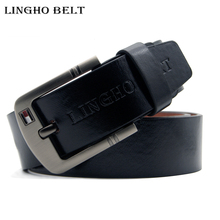 Buy LINGHO BELT2017 New hot mens belts PU leather designer Famous pin buckle Jeans belt men Brand luxury male strap for $6.28 in AliExpress store