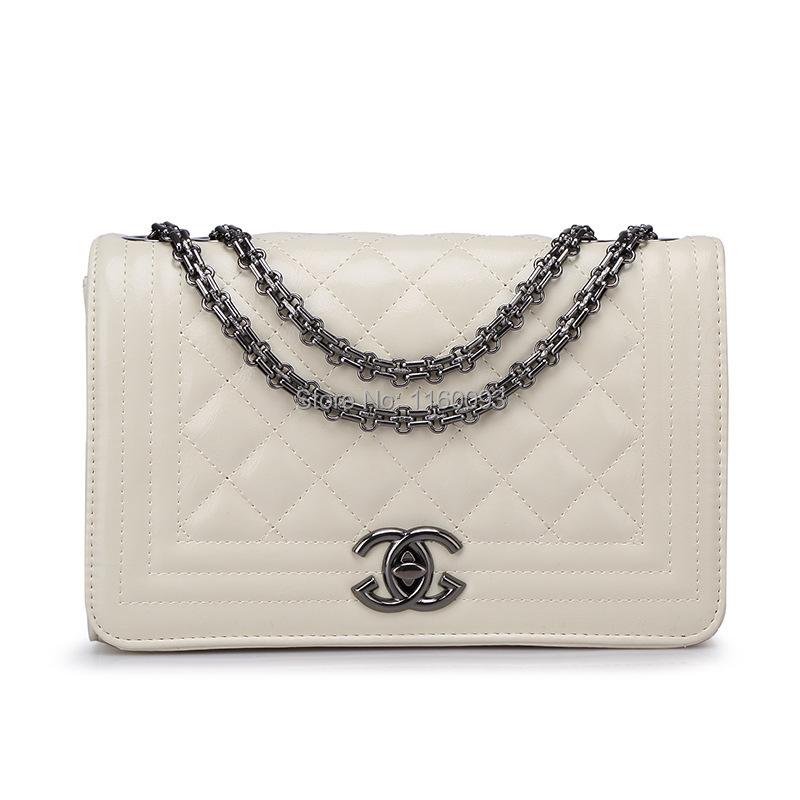 2015 Brand Fashion Woman Bag Classic Ladies luxury PU Leather Handbag Chain Shoulder Bag Plaid Women Crossbody Bag(China (Mainland))