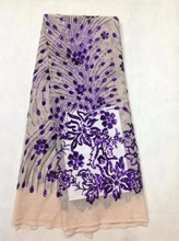 Buy French Lace Fabric 2017 Fashion African French Lace Fabric High Quality With purple Sequins Lace Fabric For Wedding Dress ZH1181 for $53.60 in AliExpress store