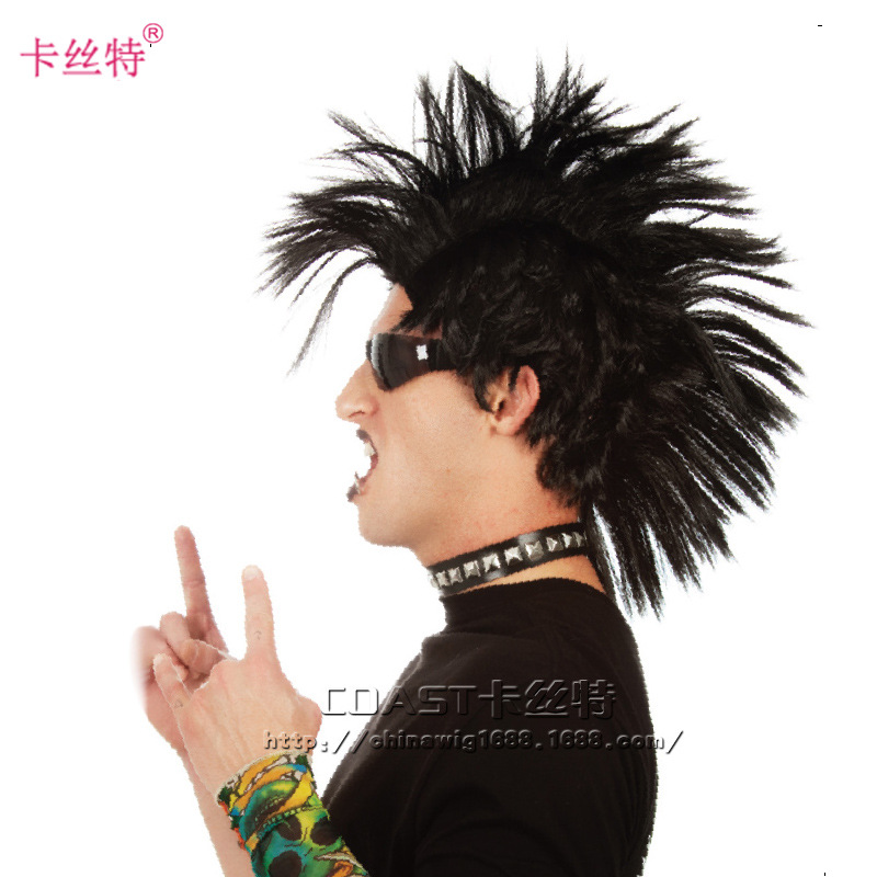 New Arrival Mohawk Style Wig Europe Festival Men And Women Cosplay Wigs Synthetic Full Wigs High Quality Hair For Party Dropship(China (Mainland))