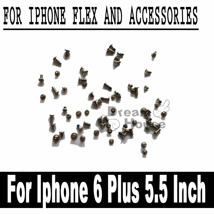 5pcs/lot 100% Original Full Screw Set with Bottom Pentalobe Screw For iPhone 6 Plus 5.5 Inch Screws Replacement Free Shipping