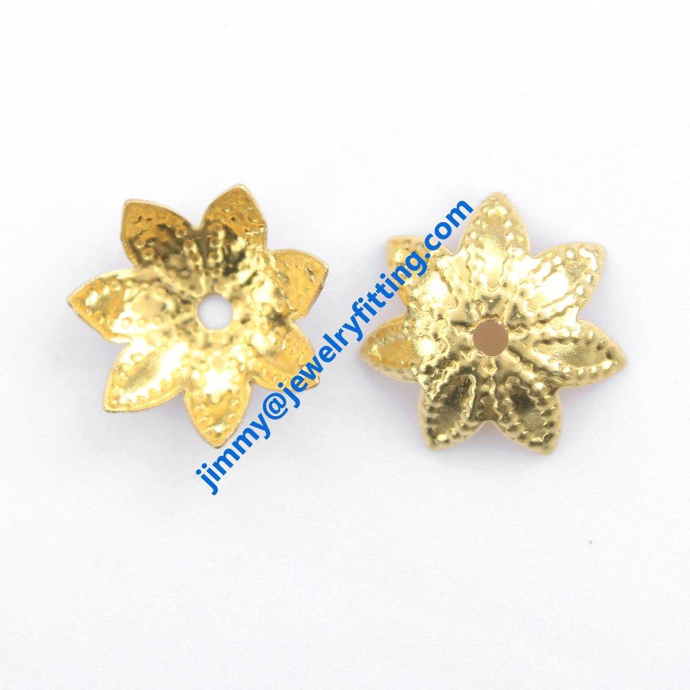 10000pcs jewelry fingding brass filigree beads cup bead cap wholesale price raw brass  size 9.7mm<br>