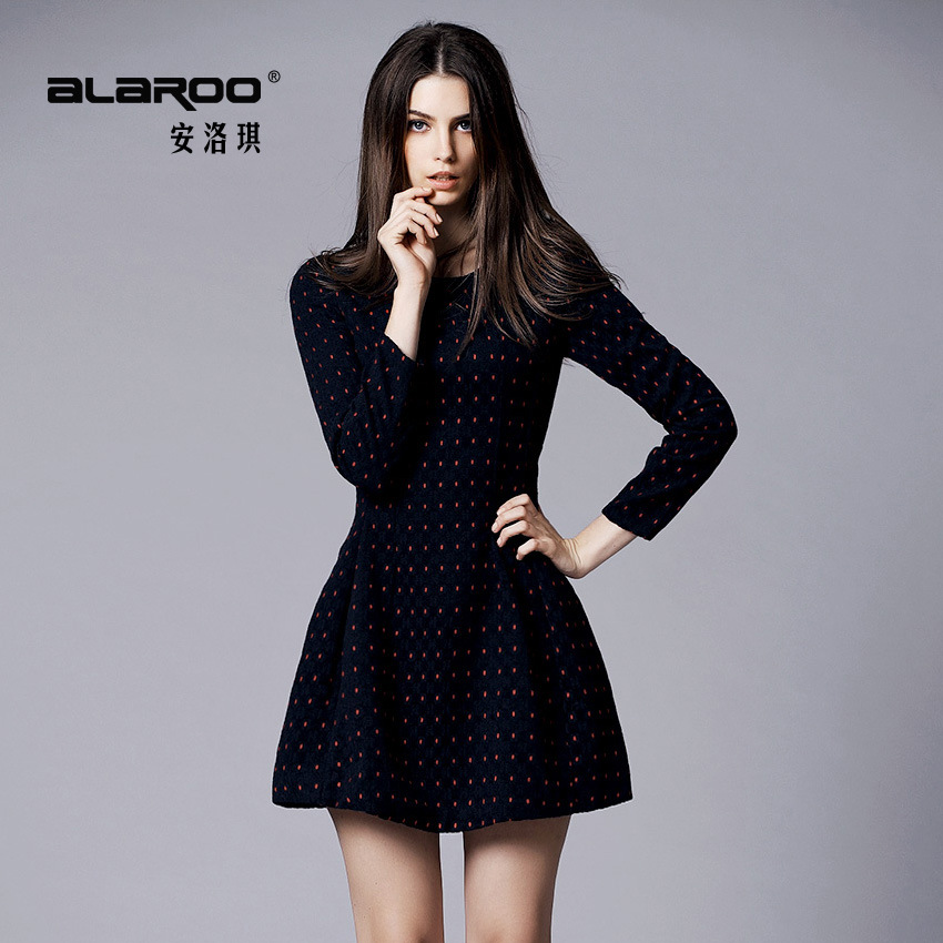 a word dress couture autumn winter dress cloth render long