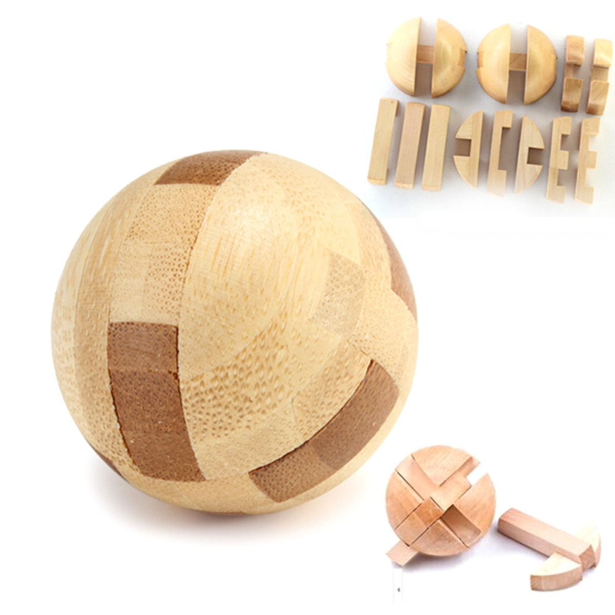Intelligence Luban Lock Wooden Brain Teaser Puzzle Educational Toy Magic Ball Toys Hobbies Puzzles Magic Cubes(China (Mainland))