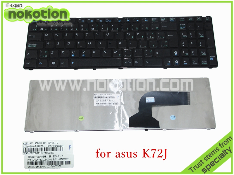 Laptop keyboard Asus K72J US Black Color Tested High quanlity - sky Store store
