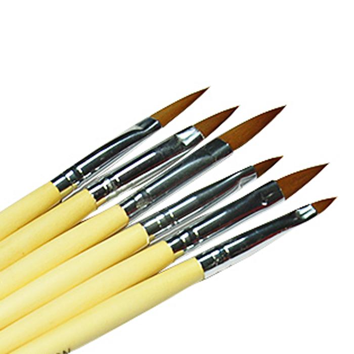 New 6Pcs Nail Brush Nail Art Design Painting Tool Pen Polish Brush Set Kit DIY Professional Nail Tools(China (Mainland))
