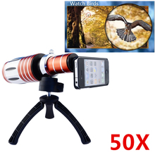 Buy Apexel Aluminum 50X Zoom Telescope Lens HQ Tripod hard back case iphone 4 telephoto camera zoom lens CL-48 for $98.99 in AliExpress store